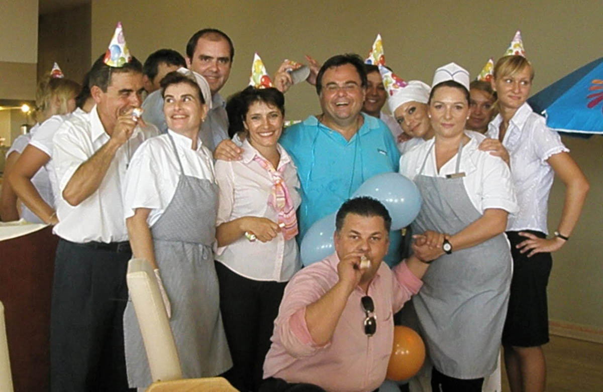 Dimitrios Buhalis with food and beverage team Aquis Hotels and Resorts