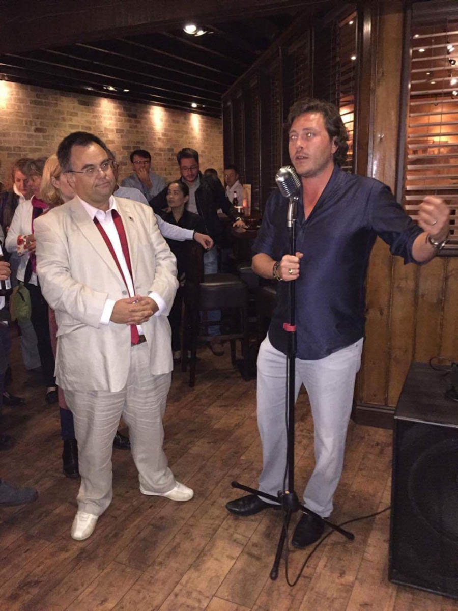 Dimitrios Buhalis with Andy Lennox Koh Thai Restaurants