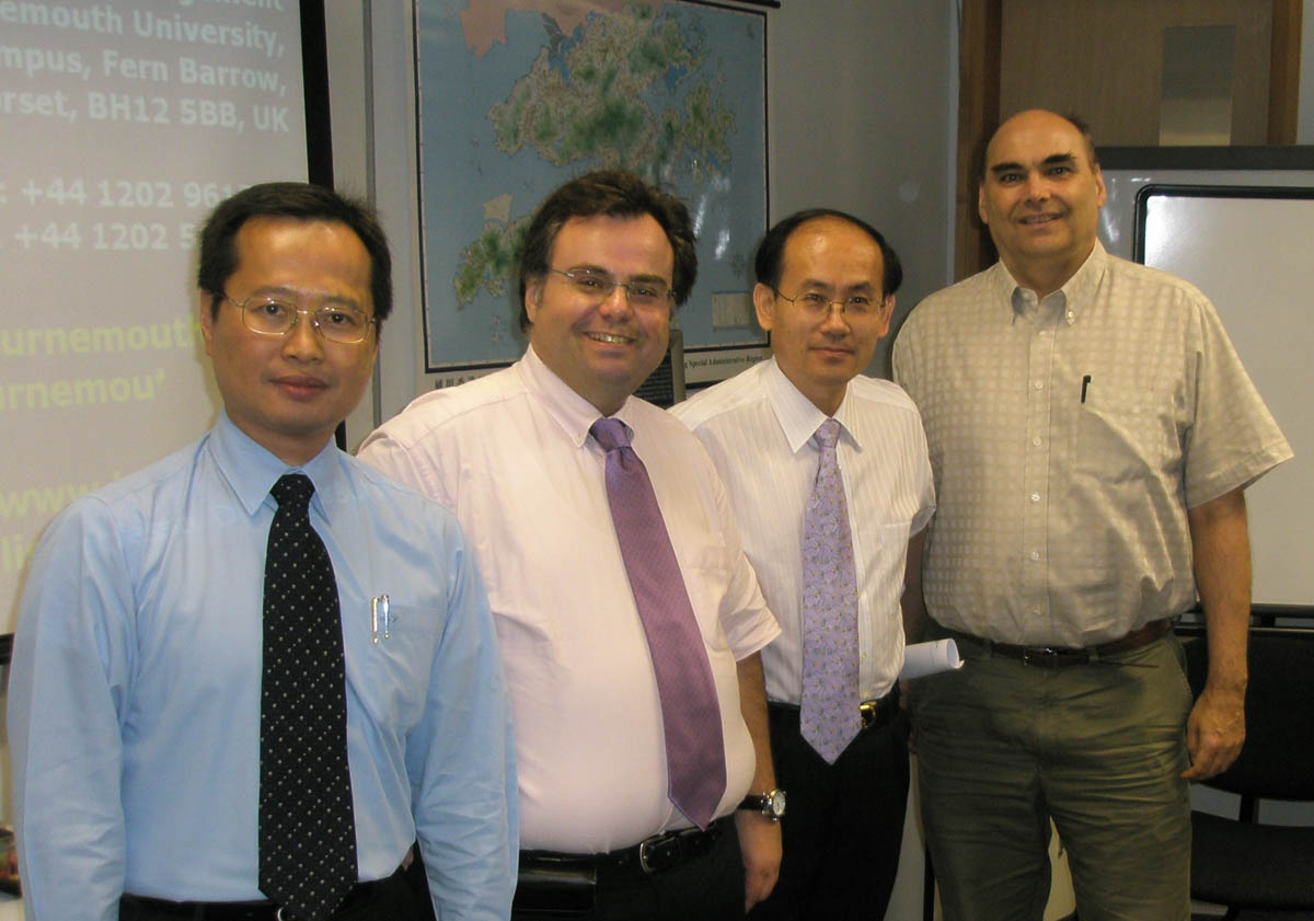 Dimitrios Buhalis at Hong Kong Polytechnic University China with Rob Law, Haiyan Song, and Bob Mckercher