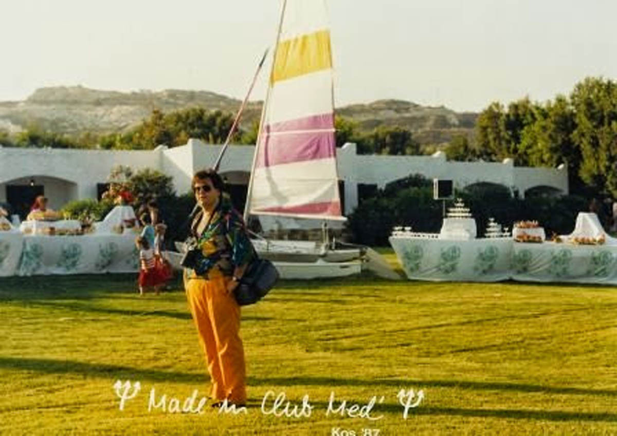 Dimitrios Buhalis as chief photographer at the Club Med in 1987