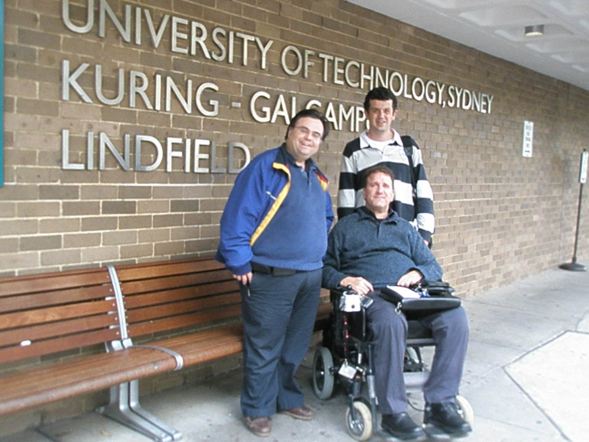 Dimitrios Buhalis with Simon Darcy at University Technology Sydney, Australia