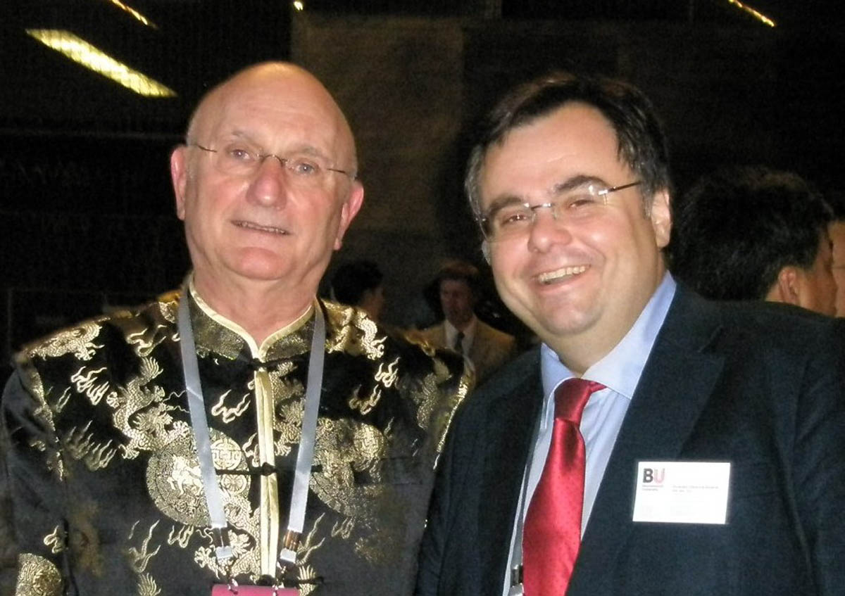 Dimitrios Buhalis with Jean-Claude Baumgarten ex President of WTTC