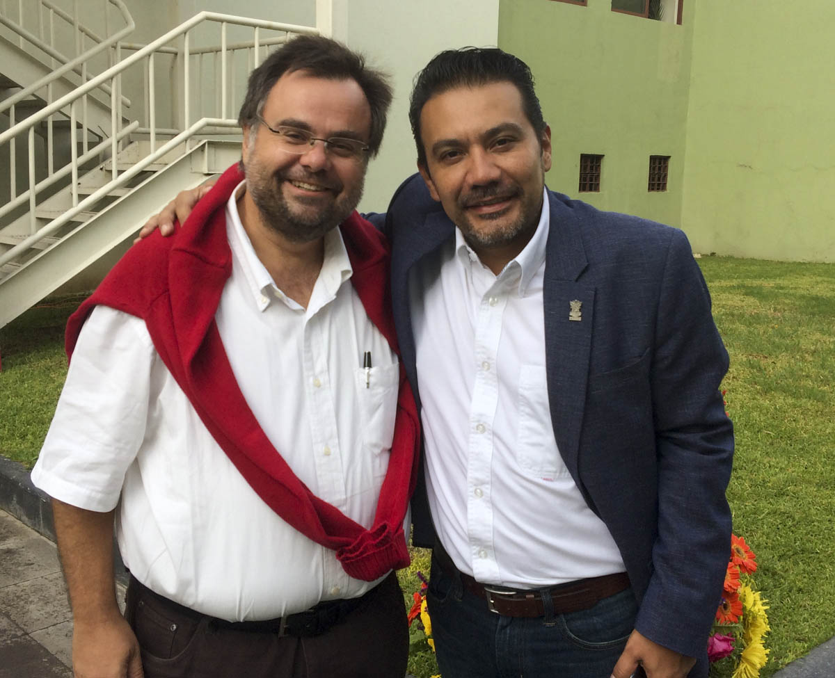 Dimitrios Buhalis Mexico with Minister of Tourism of Michuacan Roberto Monroy García