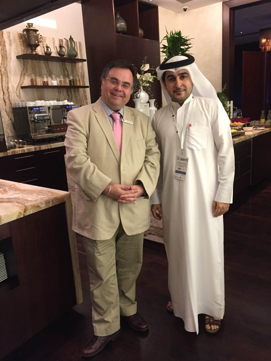 Dimitrios Buhalis with Abdulla Al Hammadi, Director of the National Tourism Programme for the Ministry of Economy of UAE