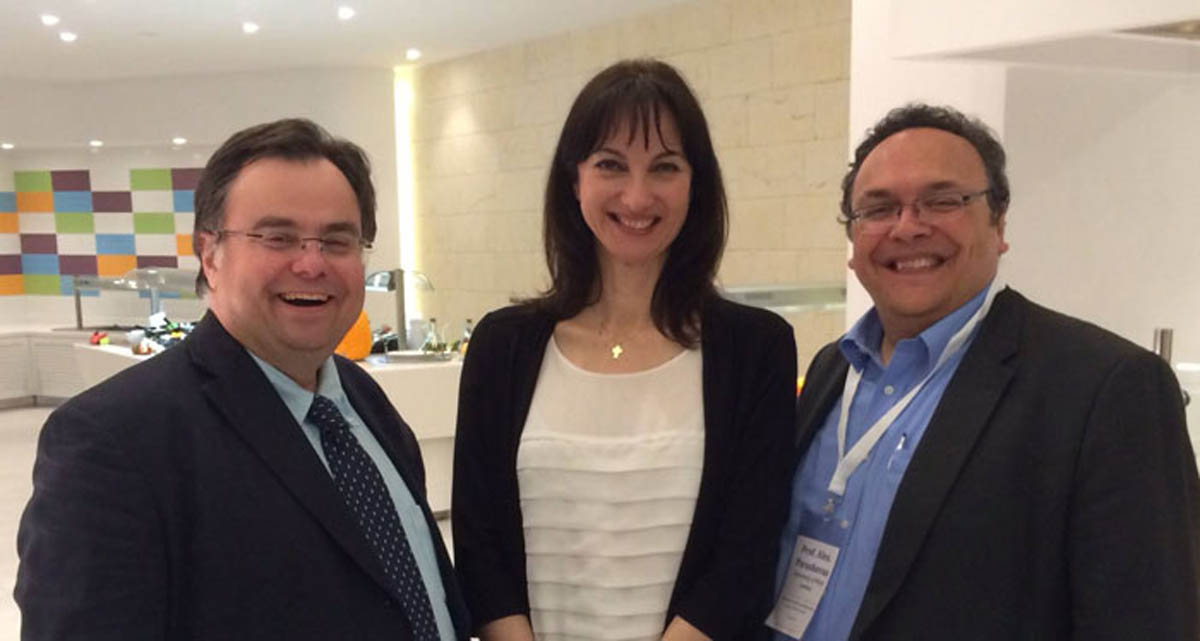 Dimitrios Buhalis with Elena Kountoura Greek Minister of Tourism and Prof Alexandros Paraskevas