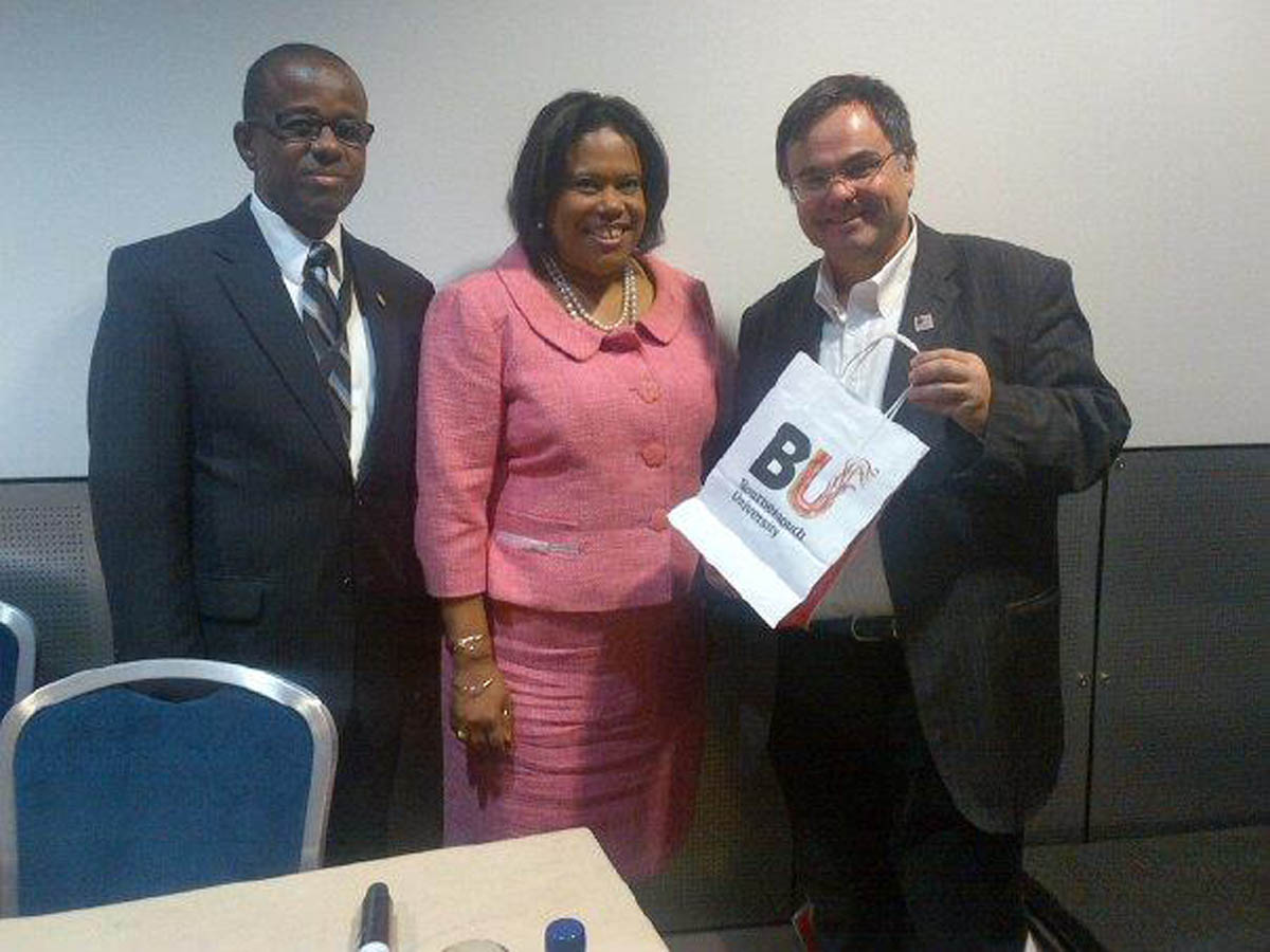 Dimitrios Buhalis with the Chairman and CEO of the Caribbean Tourism Association