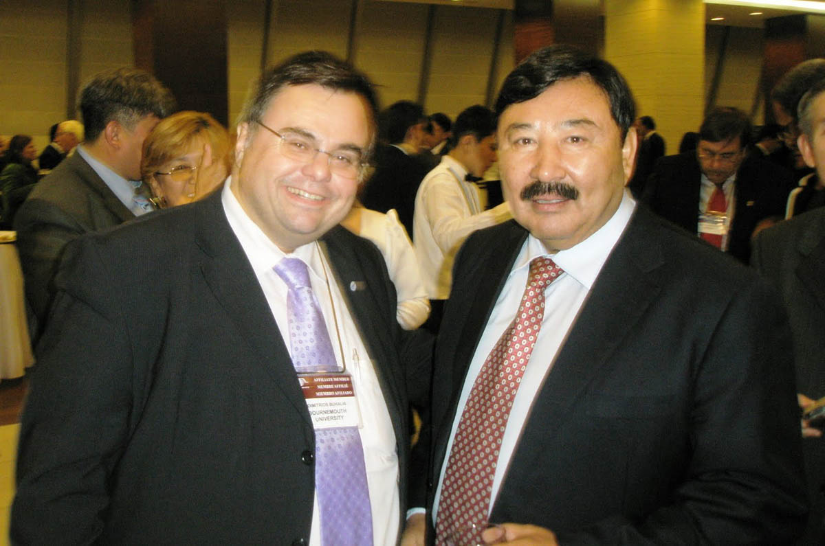 Dimitrios Buhalis with the Minister of Tourism of Kazakhstan